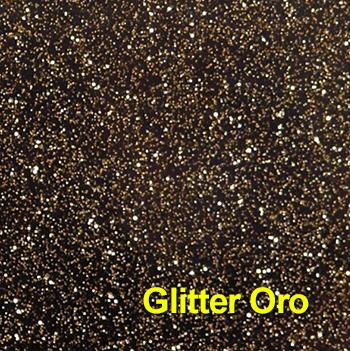 PVC glitter oro